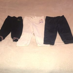 3 pairs of Juicy Couture pants